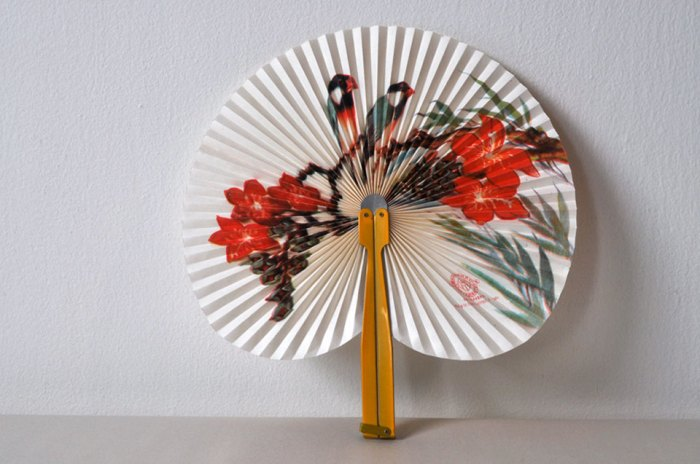 Chinese Paper Fan Open