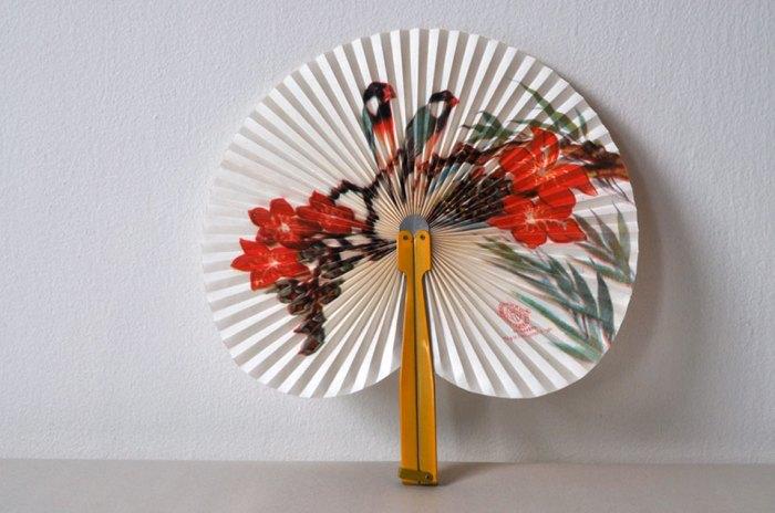 Chinese Paper Fan Open