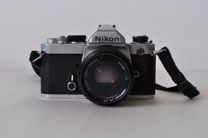 Nikon FM camera from front