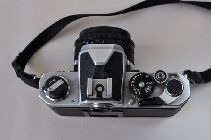 Nikon FM camera from top
