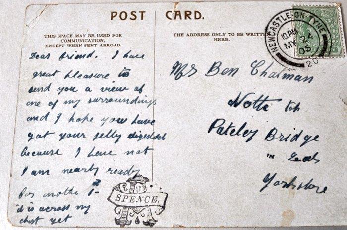 Back of Vintage Post Card