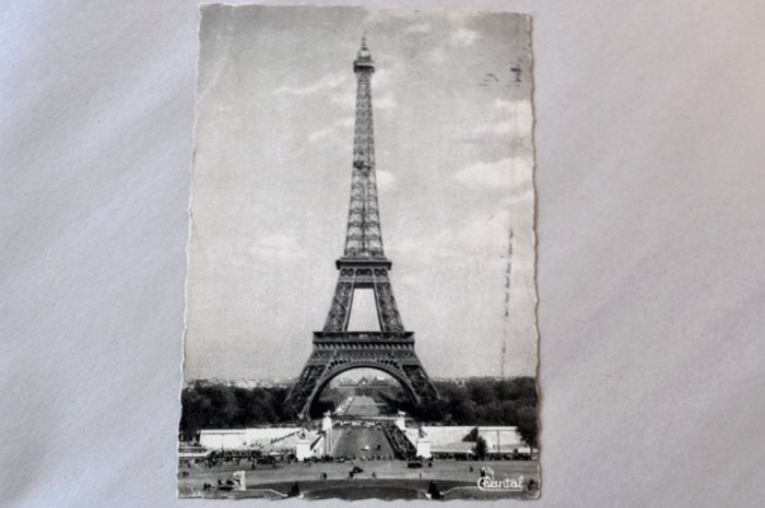 Vintage Postcard Eiffel Tower