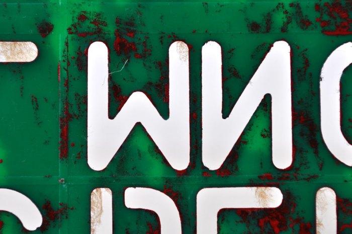 Stencil Letters Detail