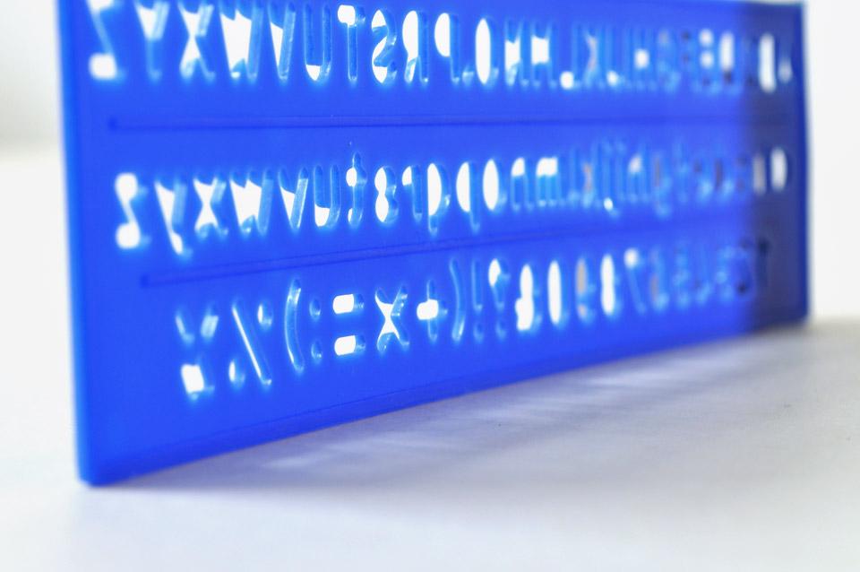 Blue Alphabet Stencil