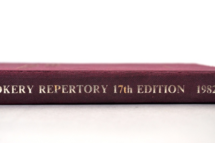 Book Cookery Repertoire