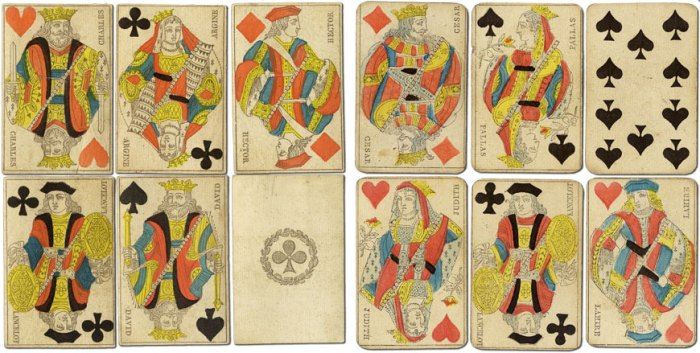 Paris cards 1865 pattern